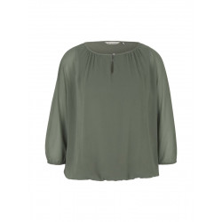 Loose Fit Chiffon Bluse by Tom Tailor
