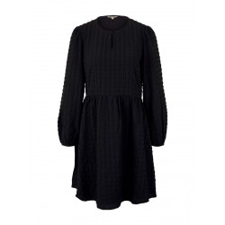 Checked dress with flounce by Tom Tailor Denim