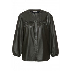Blouse in leather look by Street One