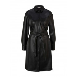 Faux leather shirt dress by Tom Tailor