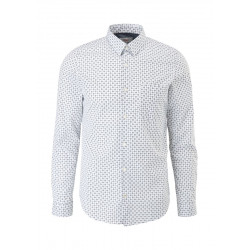 Slim: Patterned cotton shirt by s.Oliver Red Label
