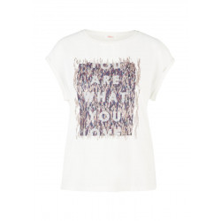 Blouse top with artwork by s.Oliver Red Label