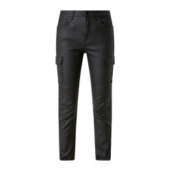 Leather look cargo pants by Q/S designed by