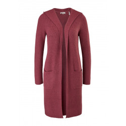 Long cardigan with a hood by s.Oliver Red Label