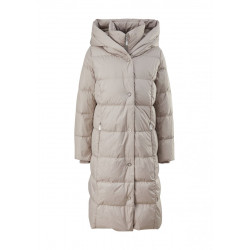 Long down coat with hood by Comma