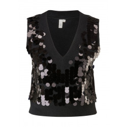 Short tank top with sequins by Q/S designed by