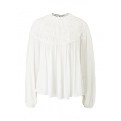Lightweight viscose blouse with gathers by s.Oliver Red Label
