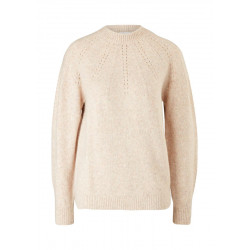 Wool mix sweater with ajour pattern by s.Oliver Red Label