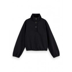 Anorak sweat with special buttons in Organic Cotton by Scotch & Soda