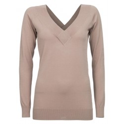 Double V-Neck Pullover by Yaya