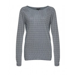 Longsleeve Super Scale mit Allovermuster by Opus