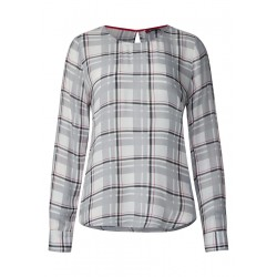 Karierte Shirt Style Bluse by Street One