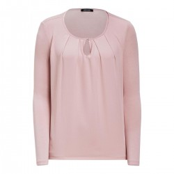 Shirt blousant avec devant en chiffon by More & More