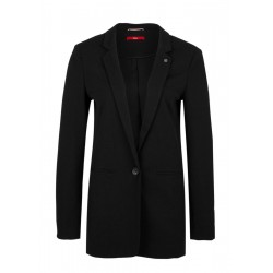 Taillierter Long-Blazer aus Crêpe by s.Oliver Red Label
