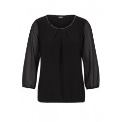 Blouse en chiffon ornée de pierres fantaisie by s.Oliver Black Label