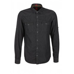 Slim : chemise en twill by s.Oliver Red Label