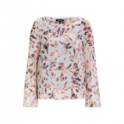 Chiffonbluse mit Floralprint by More & More