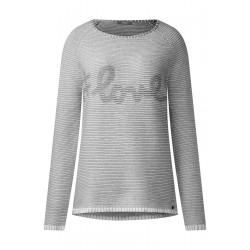 Wording Strick Pullover by Cecil