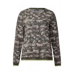 Camouflage Sweater by Street One