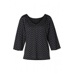 Jerseybluse mit kleinem Allover-Print by Marc O'Polo