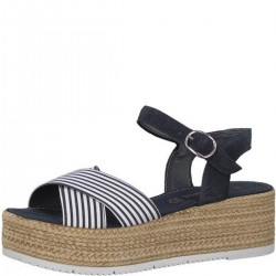 Espadrilles-Sandalen in Navy-Optik by s.Oliver Red Label