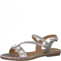 Silber Sandalen mit Perlen by s.Oliver Red Label