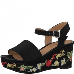 Sandalen mit Blumenstickerei by s.Oliver Red Label