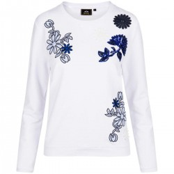 Sweater mit Blumenstickerei by HV Society