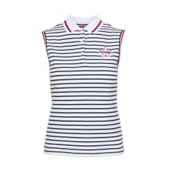 Ärmelloses Poloshirt aus stretch-Baumwolle by Tommy Jeans