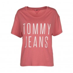 T-shirt cropped en jersey by Tommy Jeans
