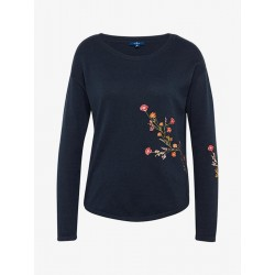 Pullover mit floraler Stickerei by Tom Tailor