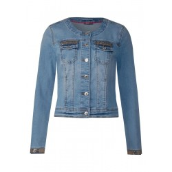 Pailetten Denim Jacke by Street One