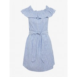 Robe rayée avec encolure Carmen by Tom Tailor Denim