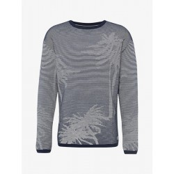 Gestreifter Pullover mit Palme by Tom Tailor Denim