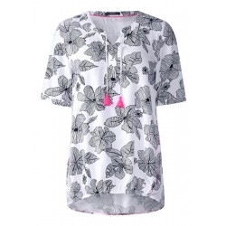 Scribble Blumenprint Bluse by Cecil