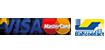 Payer par carte de crédit Visa, MasterCard et Bancontact